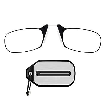 979fa8efa254 Keychain Reading Glasses Mini Readers Glasses Nose Clip Folding Reading  Glasses Presbyopic Eyeglasses for Men Women