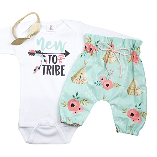 Home Coming Ideas (New to The Tribe Baby Take Home Outfit High Waisted Teepee Pants Tribal Coming Home Set 3 Piece Set with Headband)