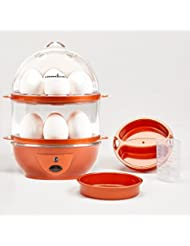 Copper Chef Want The Secret to Making Perfect C Electric Cooker Set-7 or 14 Capacity. Hard Boiled, Poached, Scrambled Eggs, or Omelets Automatic Shut Off, 7.5 x 6.7 x 7.5 inches, Red