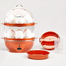 Copper Chef Want The Secret to Making Perfect C Electric Cooker Set - 7 or 14 Capacity. Hard Boiled, Poached, Scrambled Eggs, or Omelets Automatic Shut Off, 7.5 x 6.7 x 7.5 inches