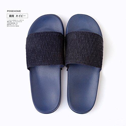 solido amanti Home di DogHaccd gli studentesse morbida coperto colore pantofole pantofole condizionata pantofole Blu nbsp;Estate scuro4 aria al in maschio soggiorno antiscivolo 6r6qwTpE