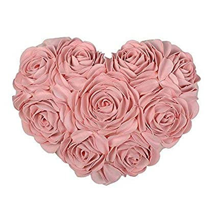 Amazon Jwh 3d Handmade Rose Flowers Accent Pillow Decorative