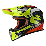LS2 Helmets Fast Explosive Off-Road MX Helmet (Yellow) (2XL)