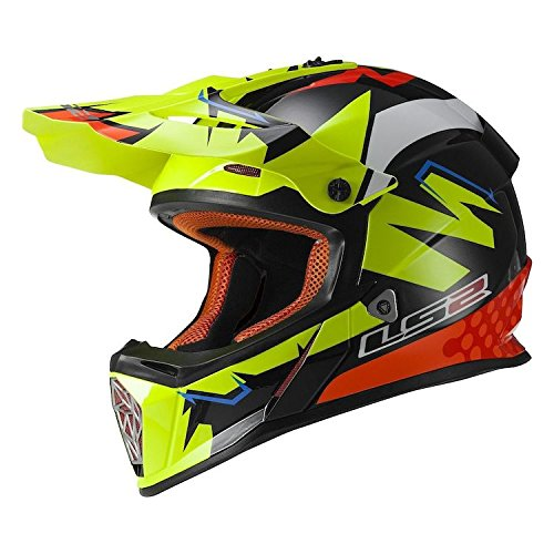 LS2 Helmets Fast Explosive Off-Road MX Helmet (Yellow) (2XL) by LS (Image #2)