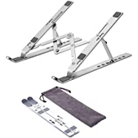 Laptop Stand,Adjustable Ergonomic Notebook Stand and Tablet Stand,Aluminum Folding Computer Desk Stand,Compatible with…