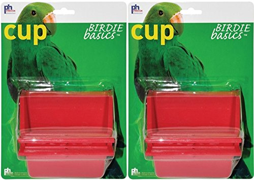(2 Pack) Prevue Birdie Basics Perch Cups 6oz by Prevue Pet Products