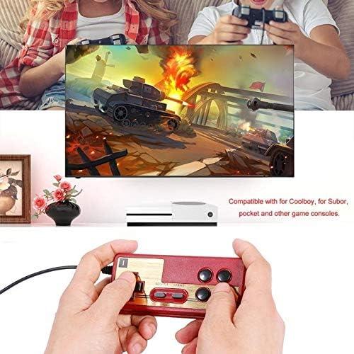 LANYAOWEN 有線8ビットテレビ赤と白のマシンゲームプレーヤーハンドルGampadコントローラ