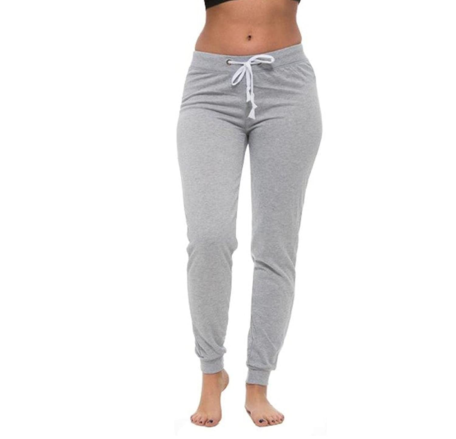 Coco-Limon Sweatpants for Women - Long, Fleece, Drawstring Waist at Amazon Womens Clothing store: