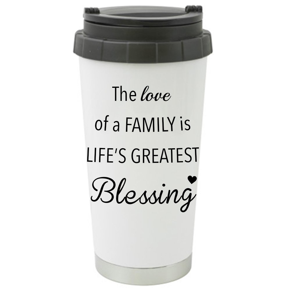 The Love of Family is Life's Greatest Blessing Double Walled Stainless Steel 16 oz. Travel Tumbler - Let The Love IN!