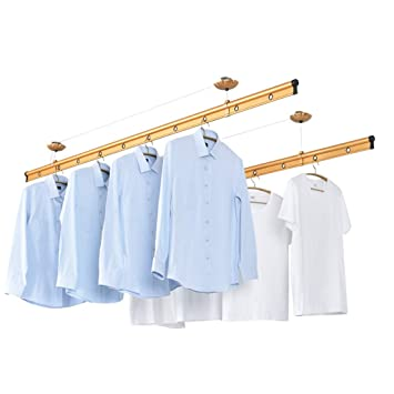 Lovely - Barra de aluminio para colgar ropa, doble bar, para ...