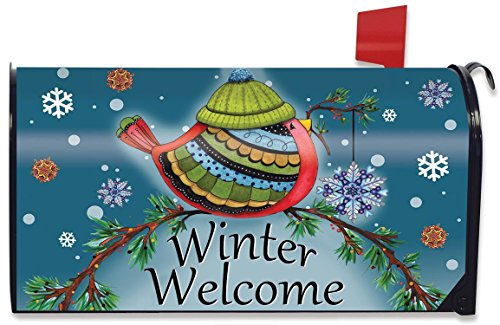 (Briarwood Lane Winter Welcome Bird Magnetic Mailbox Cover Primitive Seasonal Standard)