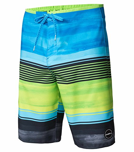 O'Neill Men's Expression Boardshort, Expression Lime, 38 - Green Mens Boardshorts