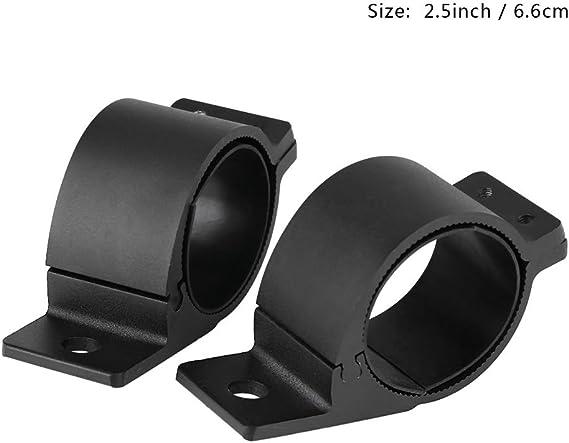 3 inches Qiilu Supporto per barra luci per auto 1 paio per fuoristrada Bull bar luci faro guida luci di montaggio staffe di fissaggio morsetti