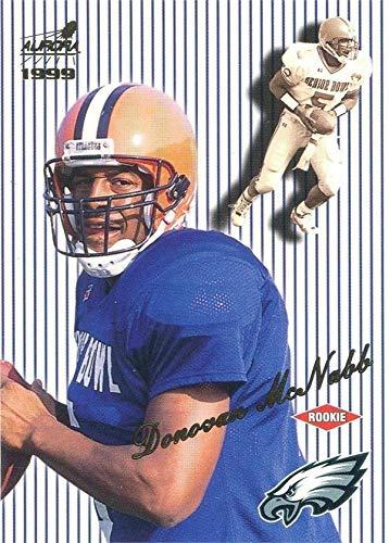 Donovan McNabb football card (Syracuse, Eagles) 1999 Pacific Aurora Pinstripes Rookie #111