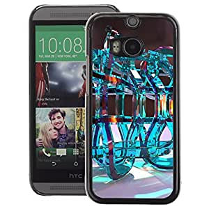 A-type Arte & diseño plástico duro Fundas Cover Cubre Hard Case Cover para HTC One M8 (Infinity Loop Abstract Water Chemistry)