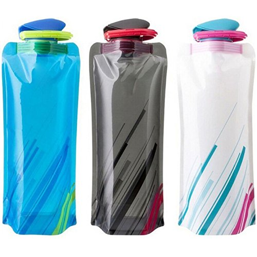 WINGONEER 3pcs 0.7L green new cover folding water bottle kettle cup outdoor picnic travel mountaineering