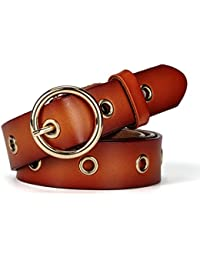 Women's Leather Belt for Girls Ladies with Alloy Buckle All Match