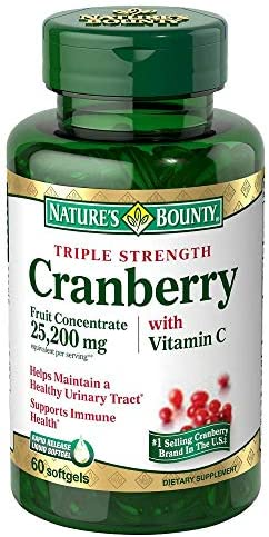 Nature s Bounty Cranberry Dietary Supplement 60 Soft Gels