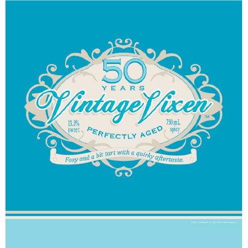 Creative Converting Vintage Vixen 50th Birthday Plastic Banquet Table Cover, 54 by 108-Inch -