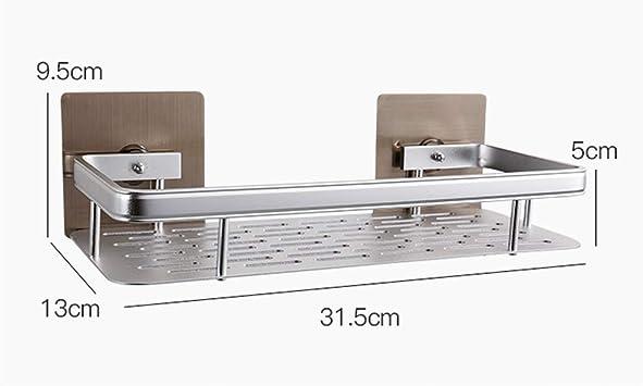 LTIEY Espacio Aluminio Est/ética Simple Ligeros y duraderos Organizadores de ba/ño Perforaci/ón sin Clavos Ventilaci/ón Secador de ba/ño seco Organizador