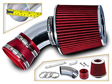 Filter Combo RED For 00-06 BMW E53 X5 3.0L//4.4L//4.6L//4.8L Rtunes Racing Short Ram Air Intake Kit