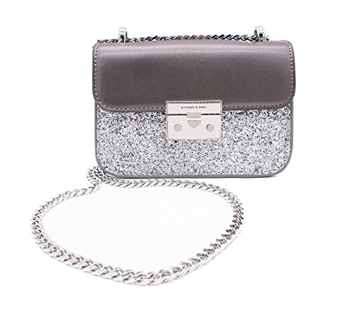 Chain Purse Evening Bag Small Shoulder Crossbody Bag for Women Glitter Purse Clutch(sliver) by LIKE IT LOVE IT