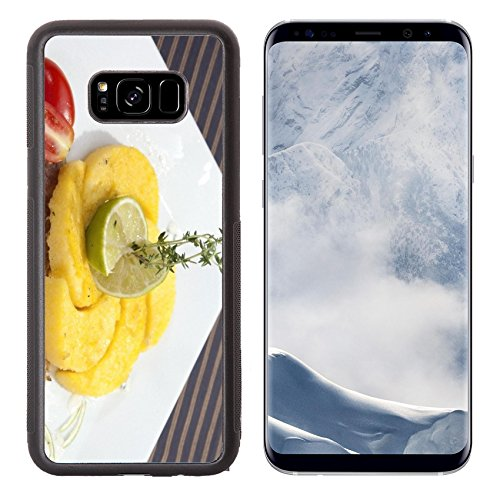xy S8 Plus S8+ Aluminum Backplate Bumper Snap Case IMAGE ID: 23837899 Grilled codfish with baked corn polenta and lemon skin slices (Fried Cod Fillets)