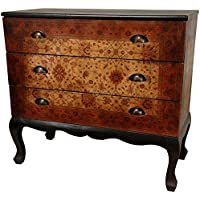 Oriental Furniture Olde-Worlde Euro Three Drawer Console