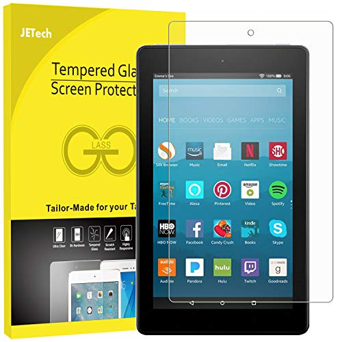 Large Product Image of JETech Screen Protector for Amazon Fire HD 8 (2018, 2017 and 2016 Model), Tempered Glass Film