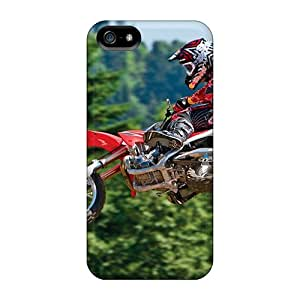 No1cases Iphone 5/5s Perfect Hard Phone Covers Allow Personal Design Fashion Bikes Motocross I Can See My House From Here Pictures [aBM939unMD]