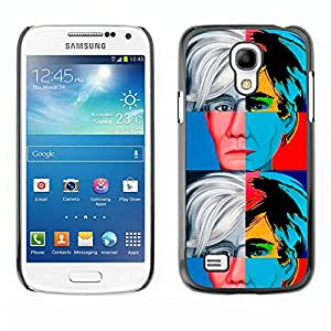 MOBMART Carcasa Funda Case Cover Armor Shell PARA Samsung Galaxy S4 Mini i9190 - Colored Reflections Of An Old Man