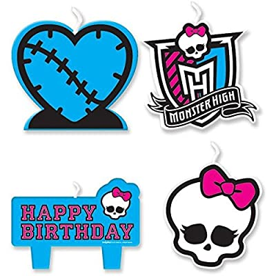 Mini Molded Cake Candles | Monster High Collection | Birthday: Toys & Games