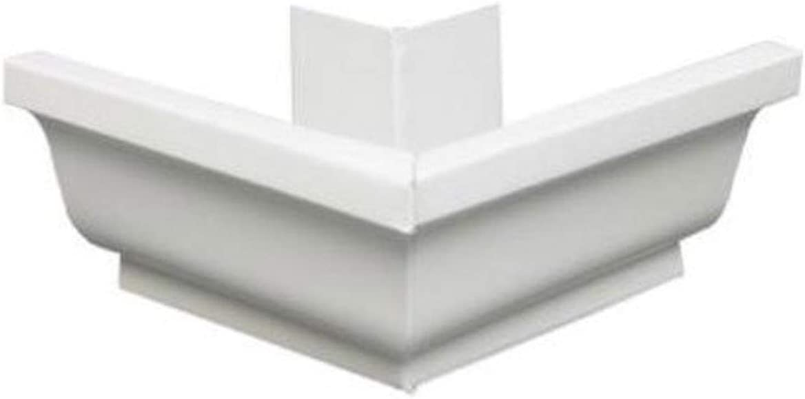 AMERIMAX HOME PRODUCTS 33202 5-Inch Galvanized Outside Mitre, White