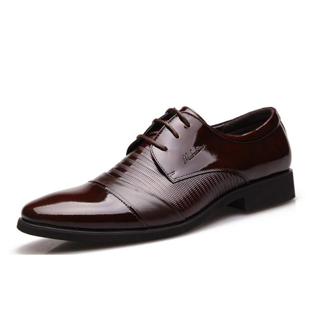 Zxcvb Herren Geschäft Schuhe Herren British Casual Breathable Leder Kleid Runde Kopf Schuhe