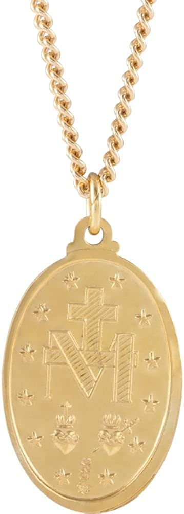 FB Jewels 24K Gold Plated 29x18mm Miraculous 24 Necklace