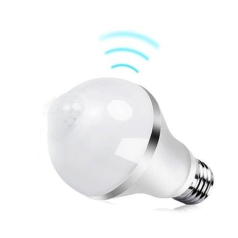 KHEBANG Bombilla LED Sensor Movimiento 8W Casquillo E27 Luz Blanco Fría 6500K
