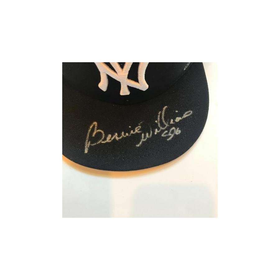 Bernie Williams Signed Authentic New York Yankees Game Model Hat Cap Sticker JSA Certified Autographed Hats