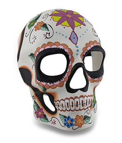 Colorful Floral Design Day of the Dead Sugar Skull Mask / Wall (Sugar Skull Masks)