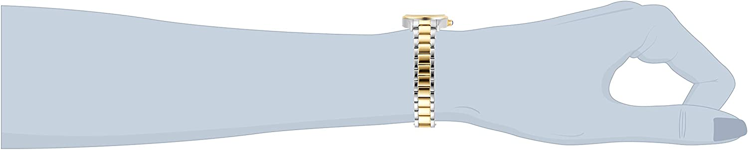 Invicta Women's Angel Quartz Watch with Stainless Steel Band Two Tone