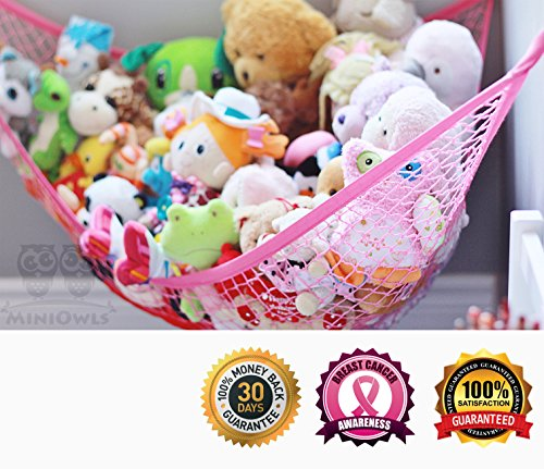 Spa Na Box Review (MiniOwls Pink STORAGE HAMMOCK XL Toy Organizer (also comes in White) De-cluttering Solution & Inexpensive Idea for Every Room at Home or Facility - 3% is Donated to Breast Cancer)