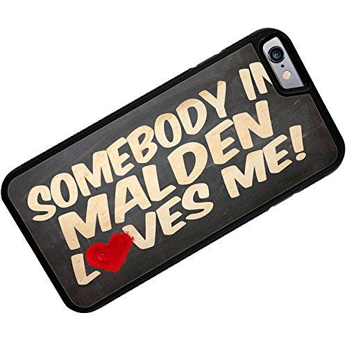 Rubber Case for iPhone 6 Plus Somebody in Malden Loves me, Massachusetts - Neonblond