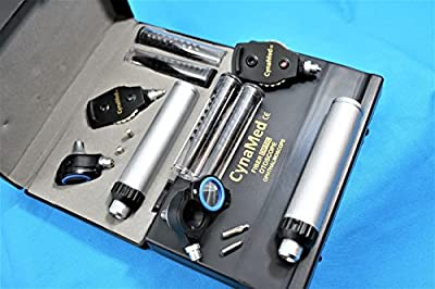 NEW! FIBER OPTIC Incredible Otoscope Diagnostic Set WITH Hard Case + 2 FREE REPLACEMENT BULBS