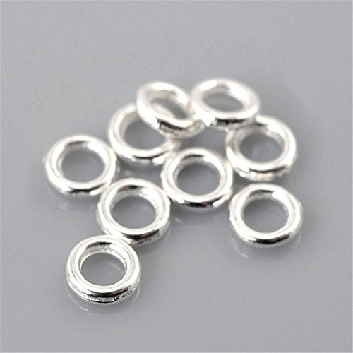 ZARABE 500PCs Silver Plated Soldered Closed Jump Rings 4mm(1/8