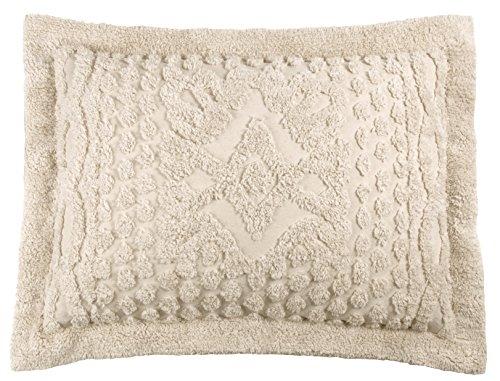 Stylemaster Kingston 100% Cotton Chenille Pillow Sham Standard, Beige