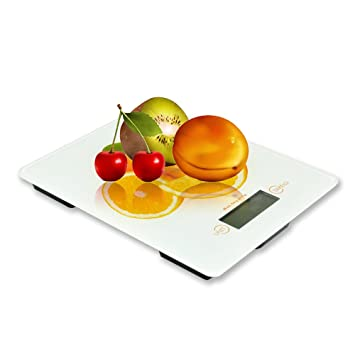 BESTEK báscula de cocina con LCD pantalla – máximo 5KG/ 1 gramo, LB,