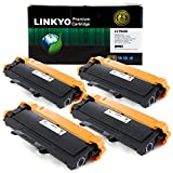 #5: 4-Pack LINKYO Replacement for Brother TN450 TN-450 Toner Cartridge (Black, High Yield)