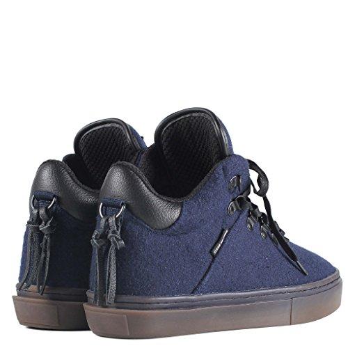 Clear Weather One-Ten Mid Top Shoes - Navy Wool 7 Men's / 8.5 Women's