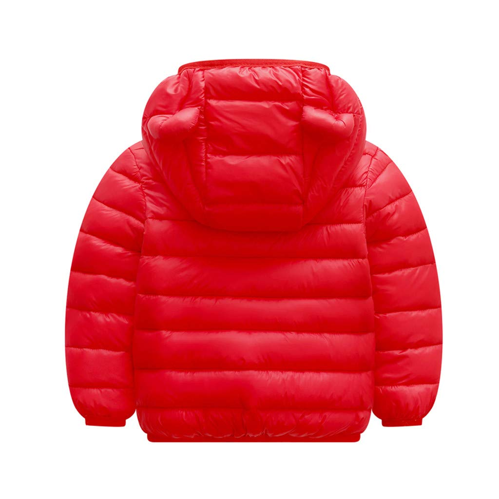 Yezijin Toddler Baby Kids Little Boy Girl Winter Hooded Jacket Thick Keep Warm Outerwear Coat for 0-4 Y