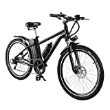 Pinty 300W Pro Electric Mountain Bike Sports Mountain Bike Variable Speed 36V Lithium Battery w/Cup Holder
