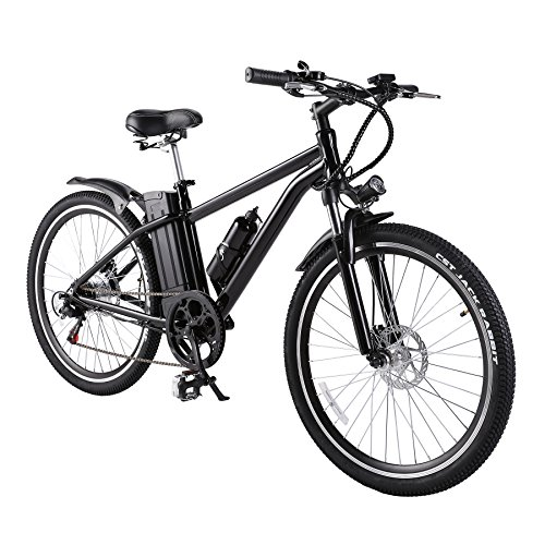 Pinty 300W Pro Electric Mountain Bike Sports Mountain Bike Variable Speed 36V Lithium Battery w/Cup Holder by Pinty